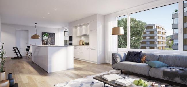 Lindengarten Dagmersellen Visualisierung Wohnzimmer
